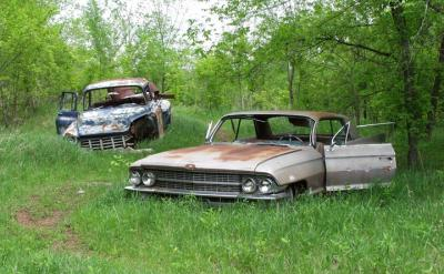 Rusted and junk vehicles