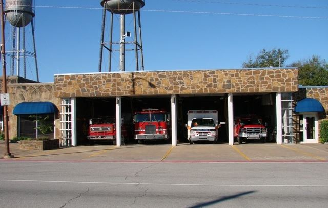 Coweta Fire Department with parked emergency vehicles