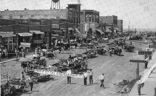 Street in Coweta in 1905