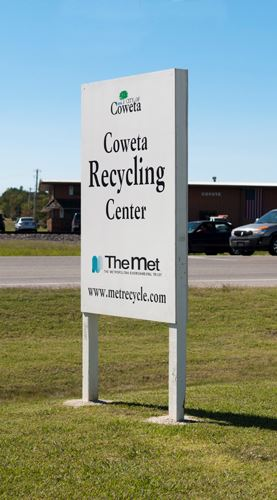 Coweta Recycling Center Sign